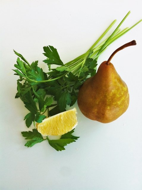 Pear parsley orange